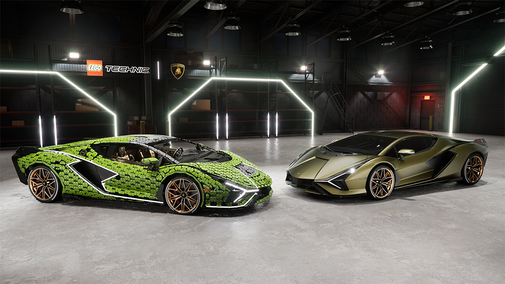 Lamborghini Sian FKP 37 изLego инастоящий автомобиль