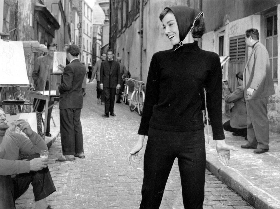 Одри Хепберн вфильме «Забавная мордашка»