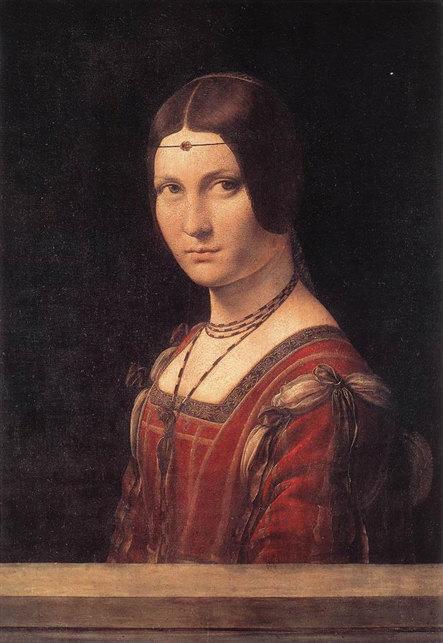 «Прекрасная Ферроньера», Леонардо да Винчи, 1490 г. Musée du Louvre