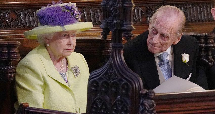Елизавета II ипринц Филипп насвадьбе принца Гарри иМеган Маркл