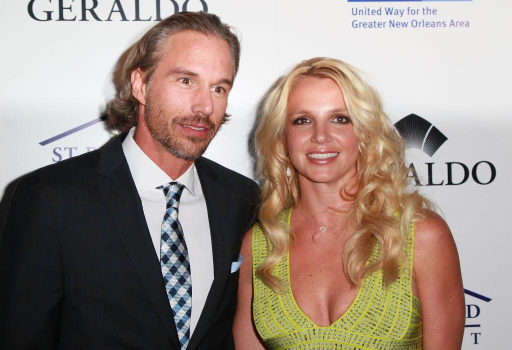 Бритни Спирс иее партнер Джейсон Трэвик в2011 году