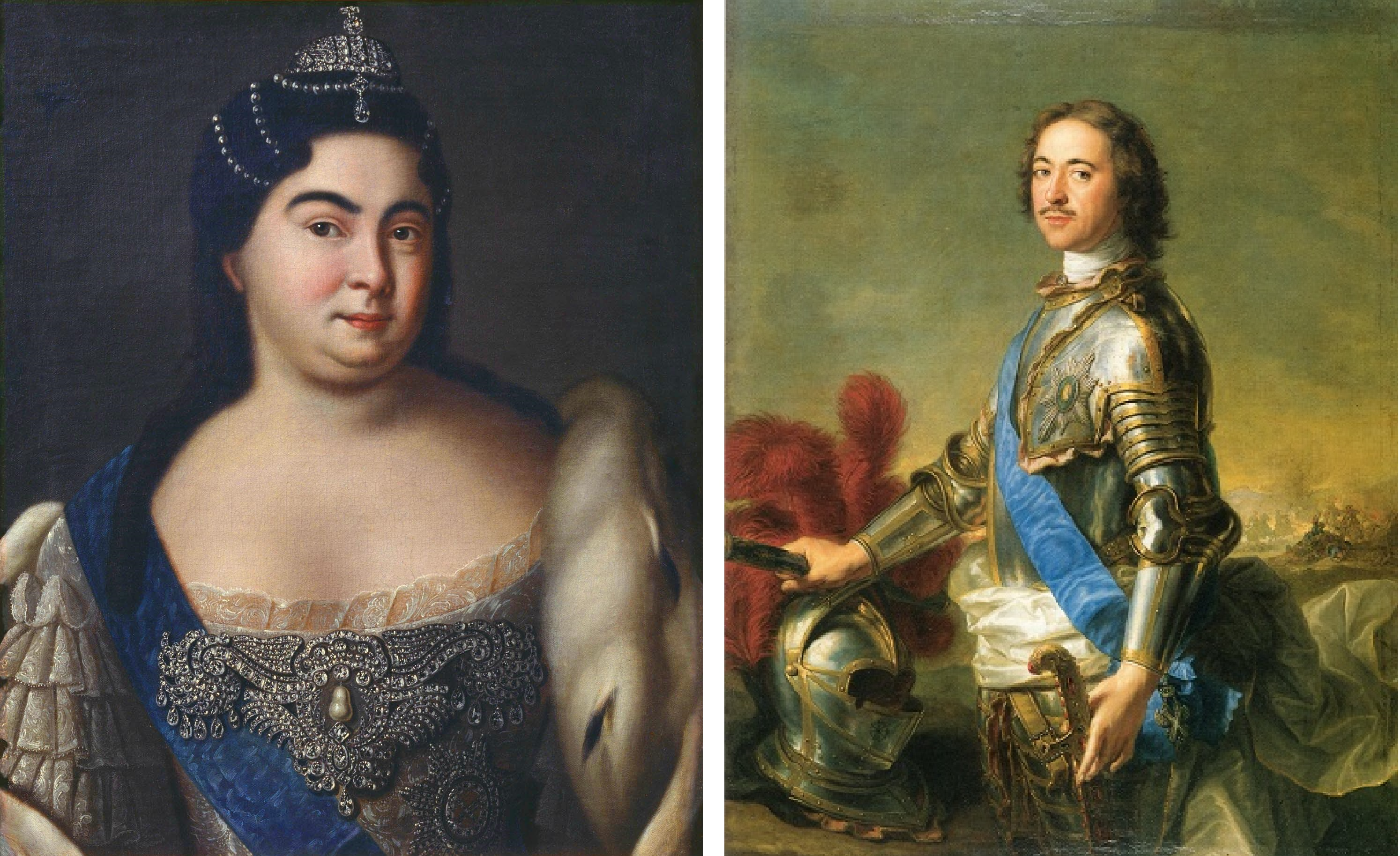 Екатерина I иПетр I