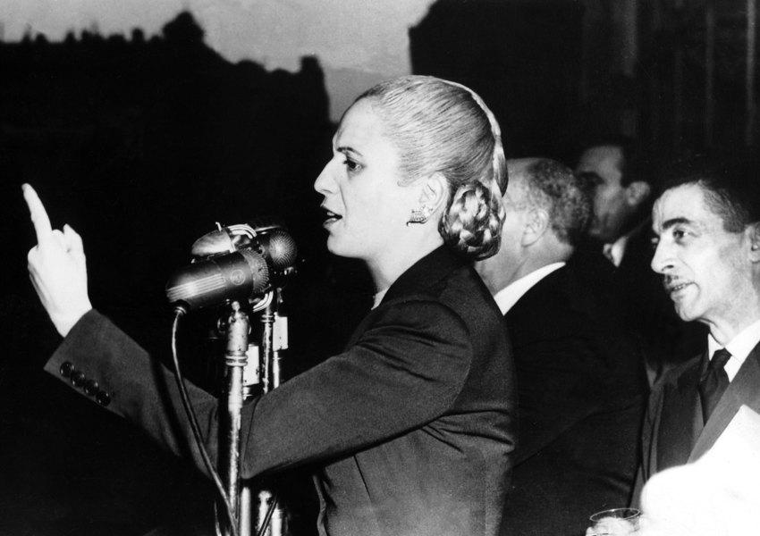 Эва Перон со своей