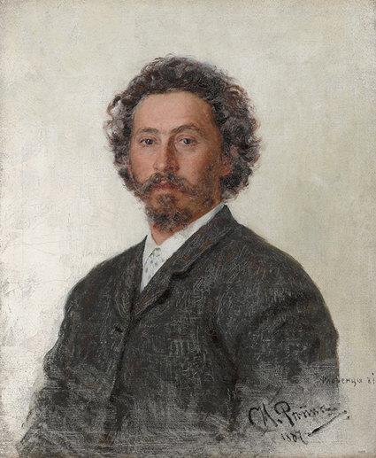 «Автопортрет», Илья Репин, 1887 г. Третьяковская галерея, Москва