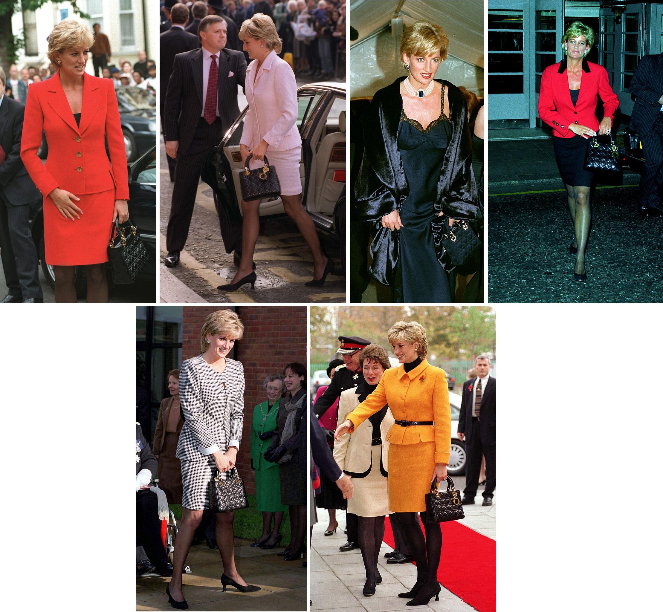 Принцесса Диана ссумкой Dior, названной вее честь