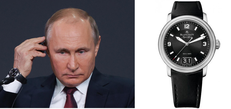 Владимир Путин вчасах Blancpain Aqua Lung Leman Grande Date