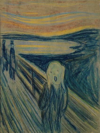 «Крик», Эдвард Мунк, 1893 г. Музей Мунка, Осло