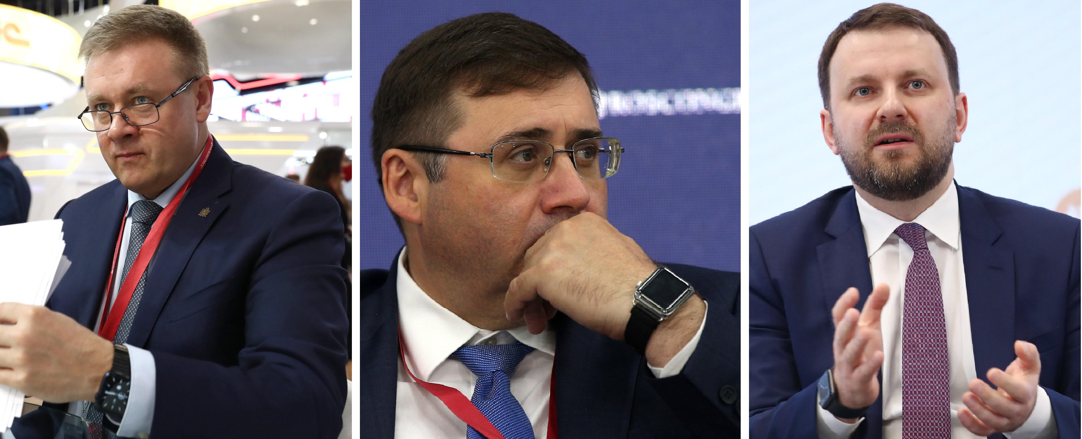Слева направо: Николай Любимов, Сергей Швецов, Максим Орешкин