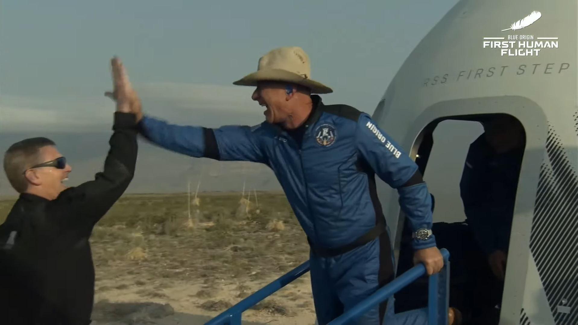 Скриншот трансляции Blue Origin