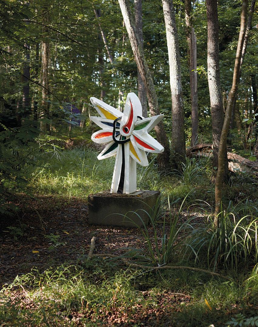 Скульптура «Многоцветный цветок (Подсолнух)» Фернана Леже,