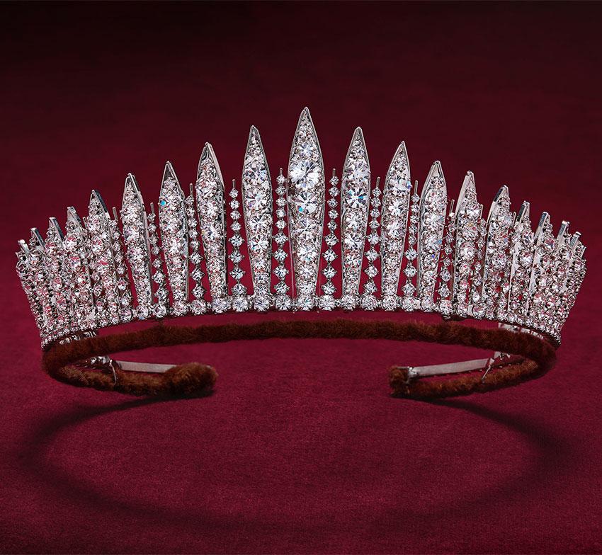 Бриллиантовая тиара Queen Mary Diamond Fringe