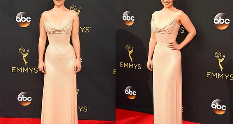 Эмилия Кларк вAtelier Versace нацеремонии Emmy 2016