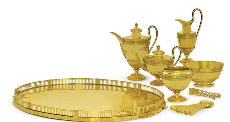 Золотой сервиз изприданого дочери Павла I выставляется на«Аукцион шедевров» Christie's