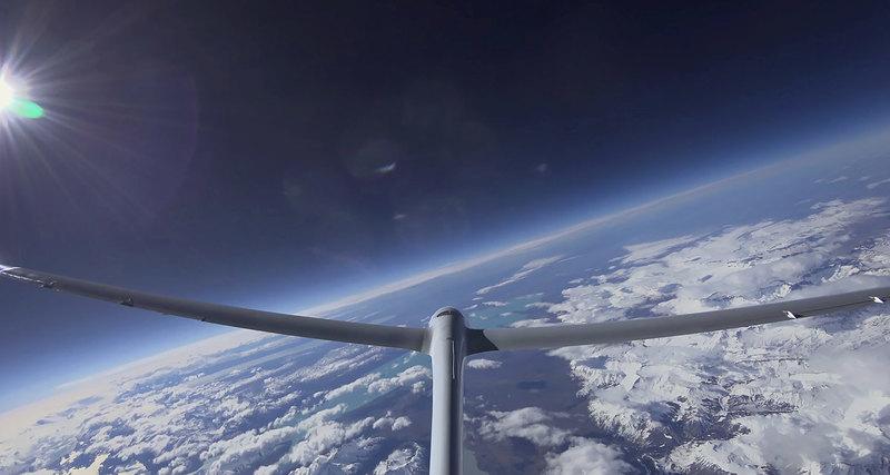 Новый мировой рекорд высоты полета напланере