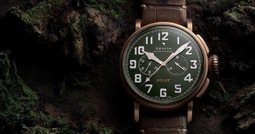 Часы Zenith в стиле милитари