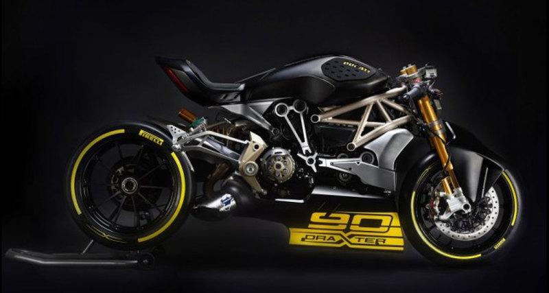 Концепт байка Ducati DraXter Drag Racing