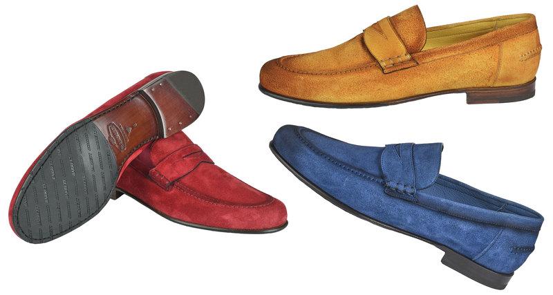 Яркие цвета вновой коллекции мужской обуви Barrett