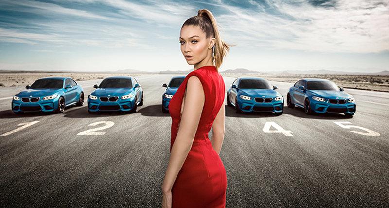 Супермодель Джиджи Хадид снялась винтерактивном фильме BMW