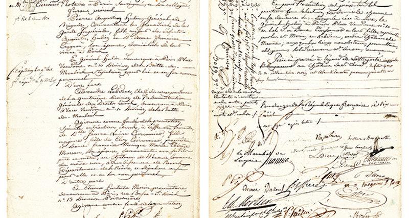 Редкий брачный контракт самой романтичной пары вистории - Наполеона иЖозефины