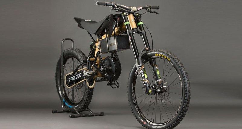 В картинках: горный велосипед смотором 6000 ватт