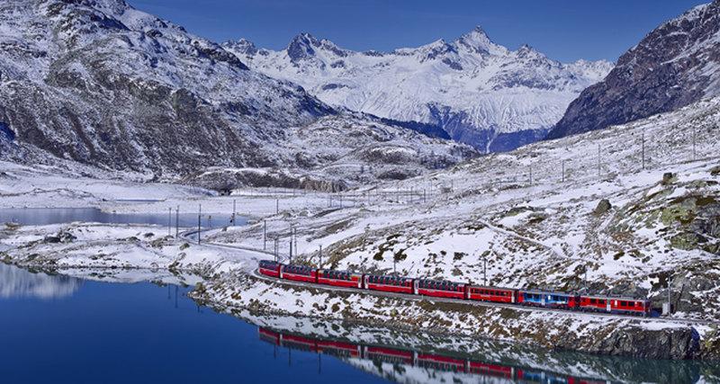 Через альпийские луга наBernina Express
