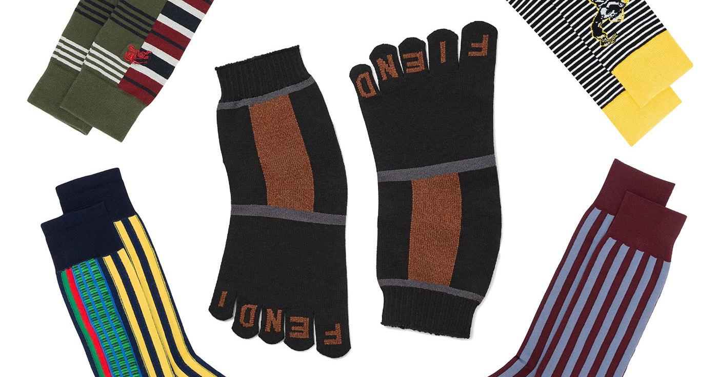 19 пар дизайнерских мужских носков