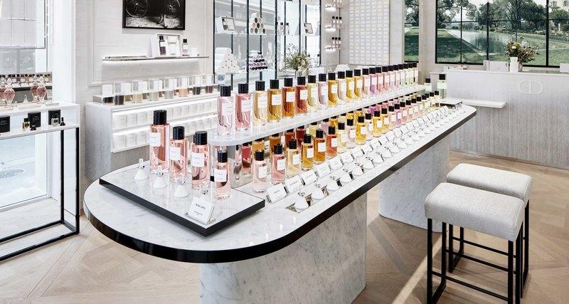 Новое парфюмерное пространство Maison Christian Dior