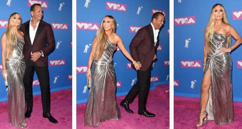 Дженнифер Лопес вукрашениях Tiffany навручении MTV Music Awards