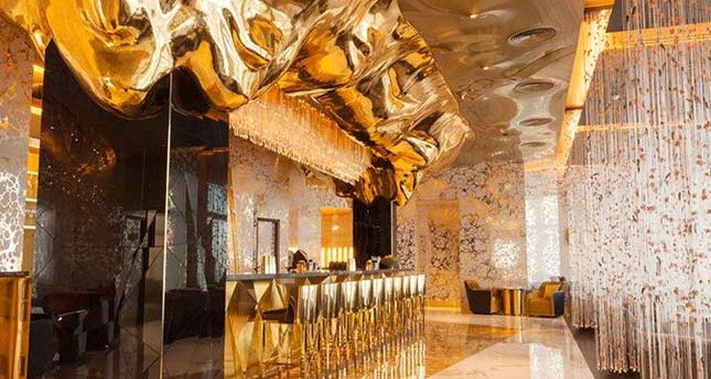 Золотой бар Gold On 27 - новый взгляд накоктейльное искусство