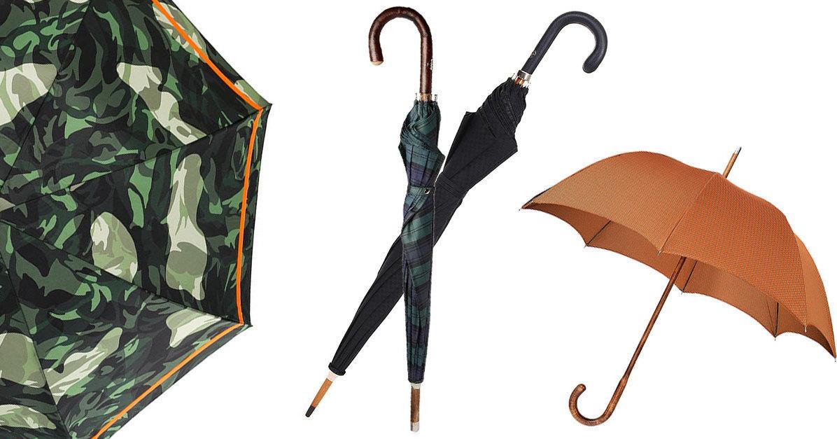 12 самых стильных мужских зонтов