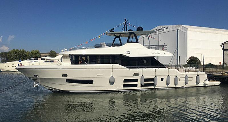 Компактный эксплорер Oceanic Yachts 76' GT отверфи Canados спущен наводу