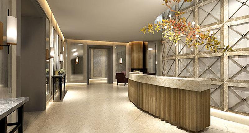 Лобби особняков элитного комплекса «Полянка/44» оформлены последам самых роскошных отелей мира