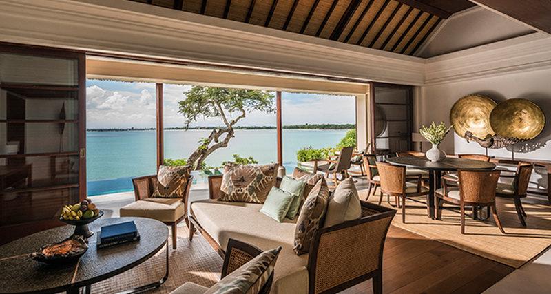 Новые виллы сдвумя спальнями накурорте Four Seasons Resort Bali at Jimbaran Bay