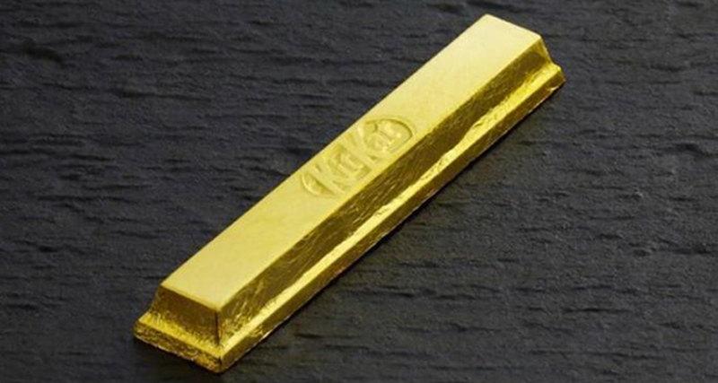 Съедобные золотые шоколадные батончики