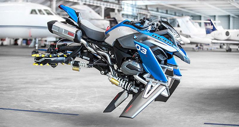 Концепт летающего мотоцикла отBMW Motorrad иLEGO Technic