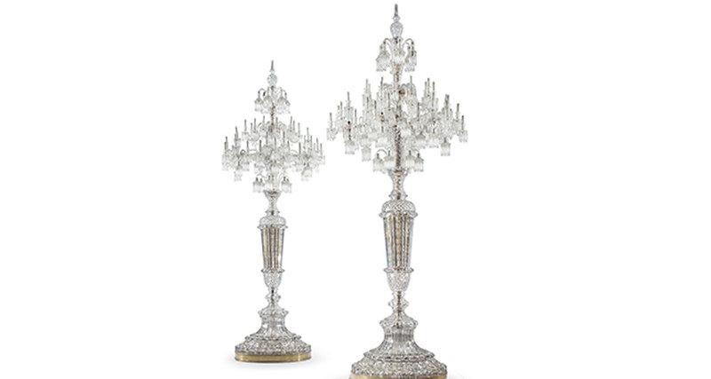 На «Аукцион шедевров» Christie's будет выставлена пара хрустальных канделябров Baccarat