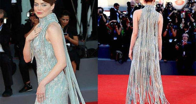 Эмма Стоун вAtelier Versace нацеремонии открытия Венецианского кинофестиваля