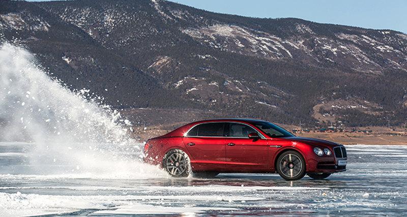 Bentley Flying Spur W12 установил рекорд максимальной средней скорости нальду Байкала