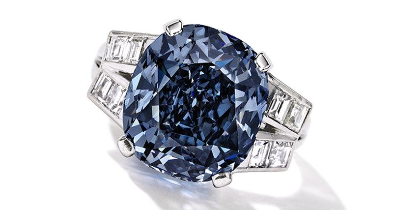 Синий бриллиант Ширли Темпл выставлен нааукцион Сотбис