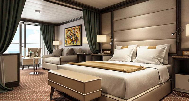 Люксы Silver Muse меблировали легендарными кроватями Savoir Beds